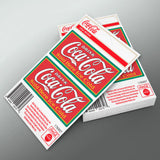 Drink Coca-Cola Ice Cold Mini Vinyl Stickers Set of 2 20 ct