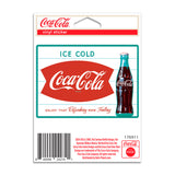 Ice Cold Coca-Cola Fishtail Mini Vinyl Sticker 1960s Style 20 ct