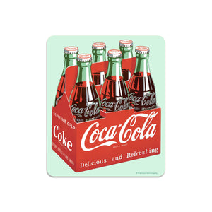 Coca-Cola Classic Bottles 6 Pack Mini Vinyl Sticker 20 ct