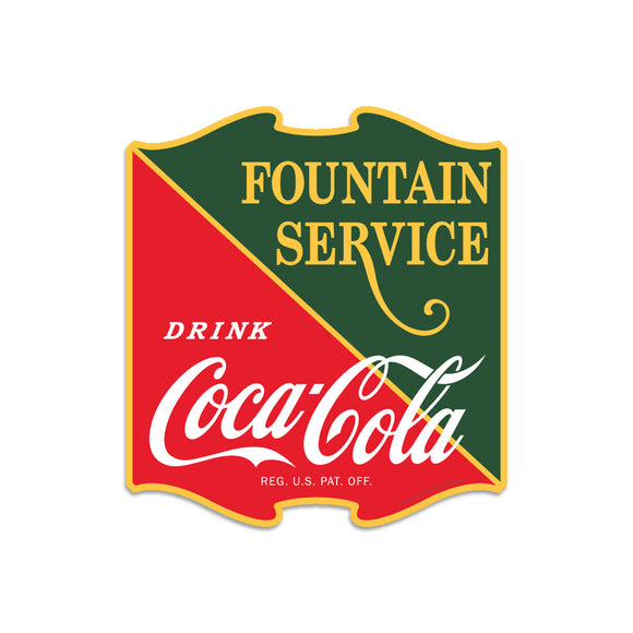 Drink Coca-Cola Fountain Service Mini Vinyl Sticker 20 ct