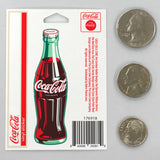 Coca-Cola Green Contour Bottle Mini Vinyl Sticker 20 ct