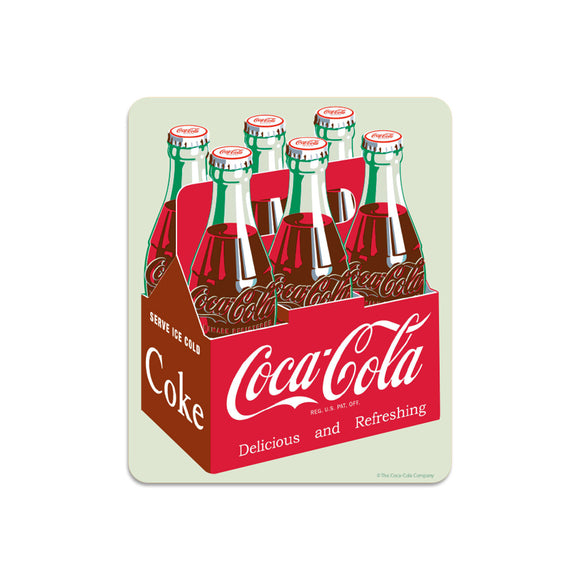 Coca-Cola Classic Six Pack Mini Vinyl Sticker 1940s Style 20 ct