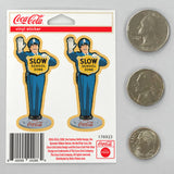 Coca-Cola Cop Crossing Guard Mini Vinyl Stickers Set of 2 20 ct