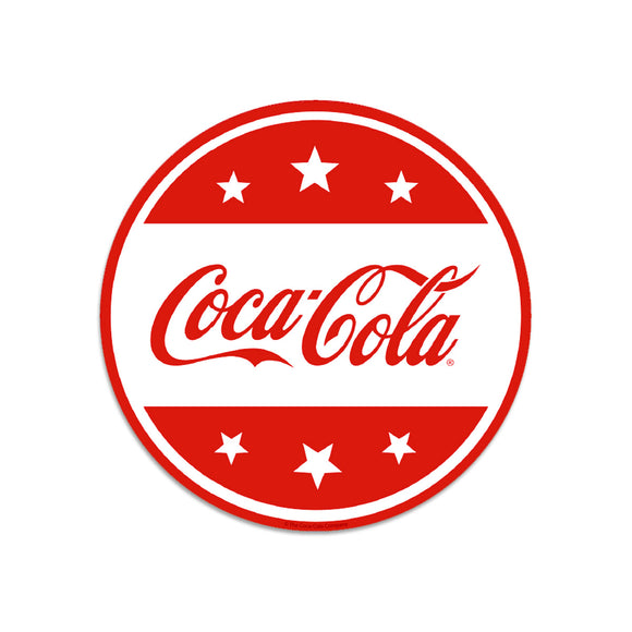 Coca-Cola Red White Stars Mini Vinyl Sticker 20 ct