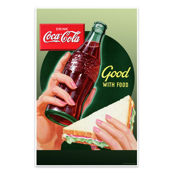 Coca-Cola Good with Food Mini Poster