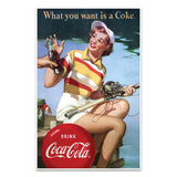 Coca-Cola Fishing Girl What You Want Mini Poster