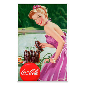 Coca-Cola Refreshment Girl Mini Poster