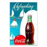 Coca-Cola Refreshing Sailboats Mini Poster