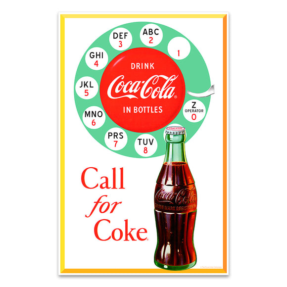 Call for Coke Rotary Phone Mini Poster
