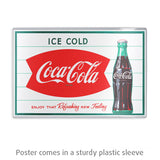 Ice Cold Coca-Cola Fishtail 1960s Mini Poster