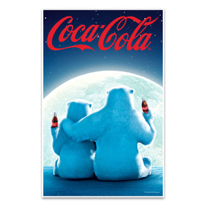 Coca-Cola Polar Bears Red Script Logo Mini Poster
