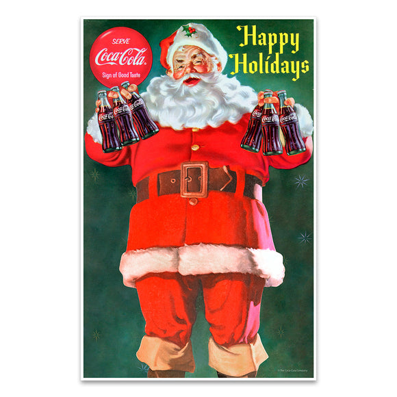 Coca-Cola Santa Happy Holidays Mini Poster