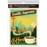 Seattle Supreme Best Coffee Decal