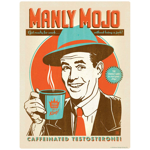 Manly Mojo Coffee Decal