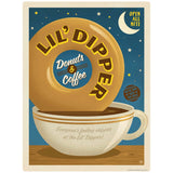 Lil Dipper Donut Coffee Shop Decal