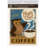 Night Owl Coffee Decal