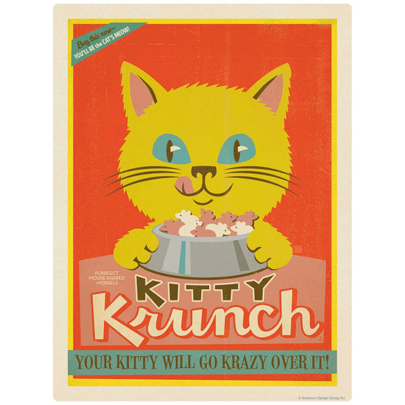 Kitty Krunch Cat Food Ad Decal