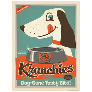 K9 Krunchies Dog Food Ad Decal
