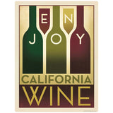 Enjoy California Wine Art Deco Decal