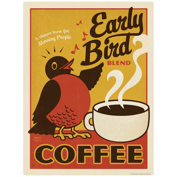 Early Bird Coffee Decal