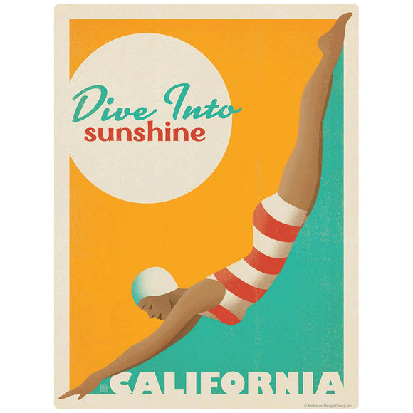 California Dive Into Sunshine Decal