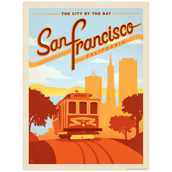 San Francisco California Cable Car Decal
