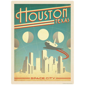 Houston Texas Space City Decal