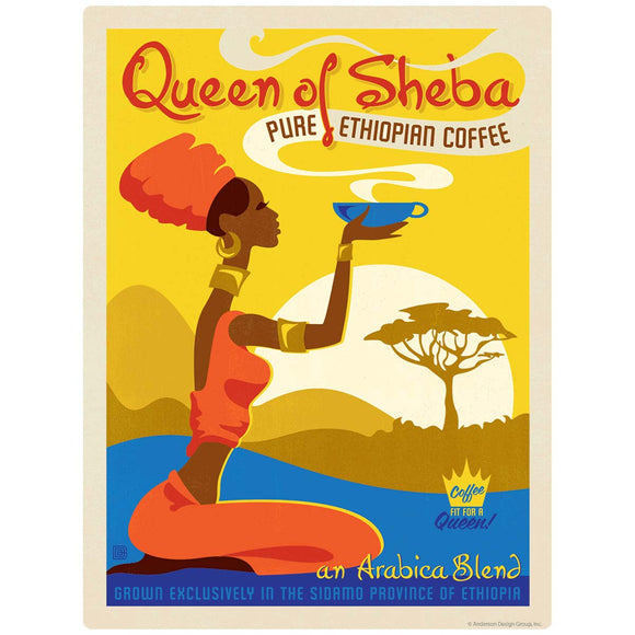Queen of Sheba Coffee Decal