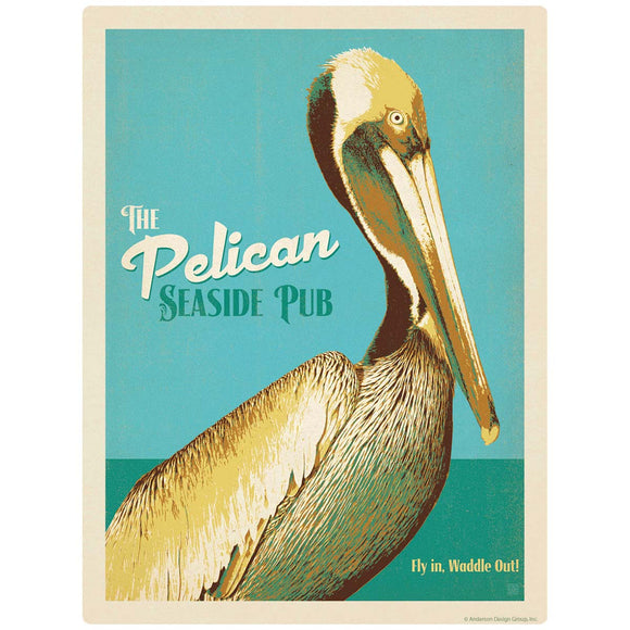 Pelican Seaside Pub Decal