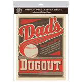 Dads Dugout Baseball Decal