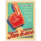 Fan Cave Rules Foam Finger Decal