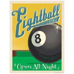 Eightball Lounge Pool Hall Decal