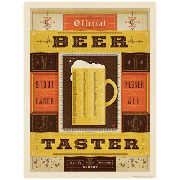 Beer Taster Mug Decal