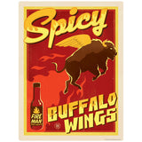 Spicy Buffalo Wings Hot Sauce Decal