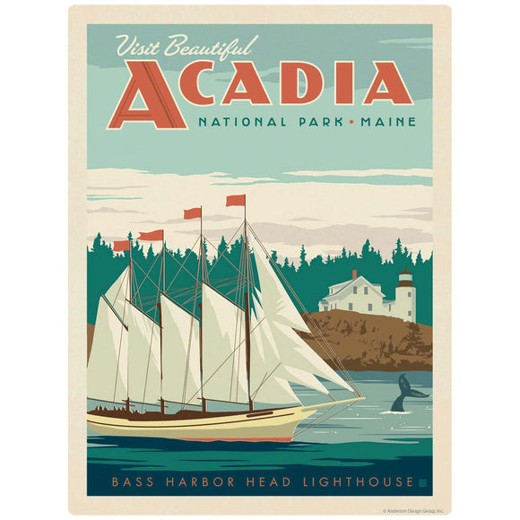 Acadia National Park Maine Ship Decal