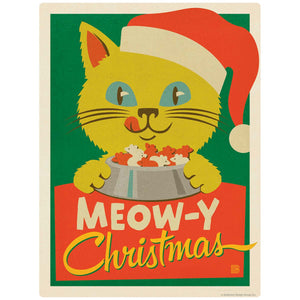 Meow-y Christmas Santa Cat Decal