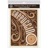Cappuccino Heart Coffee Decal