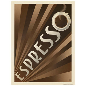 Espresso Art Deco Coffee Decal