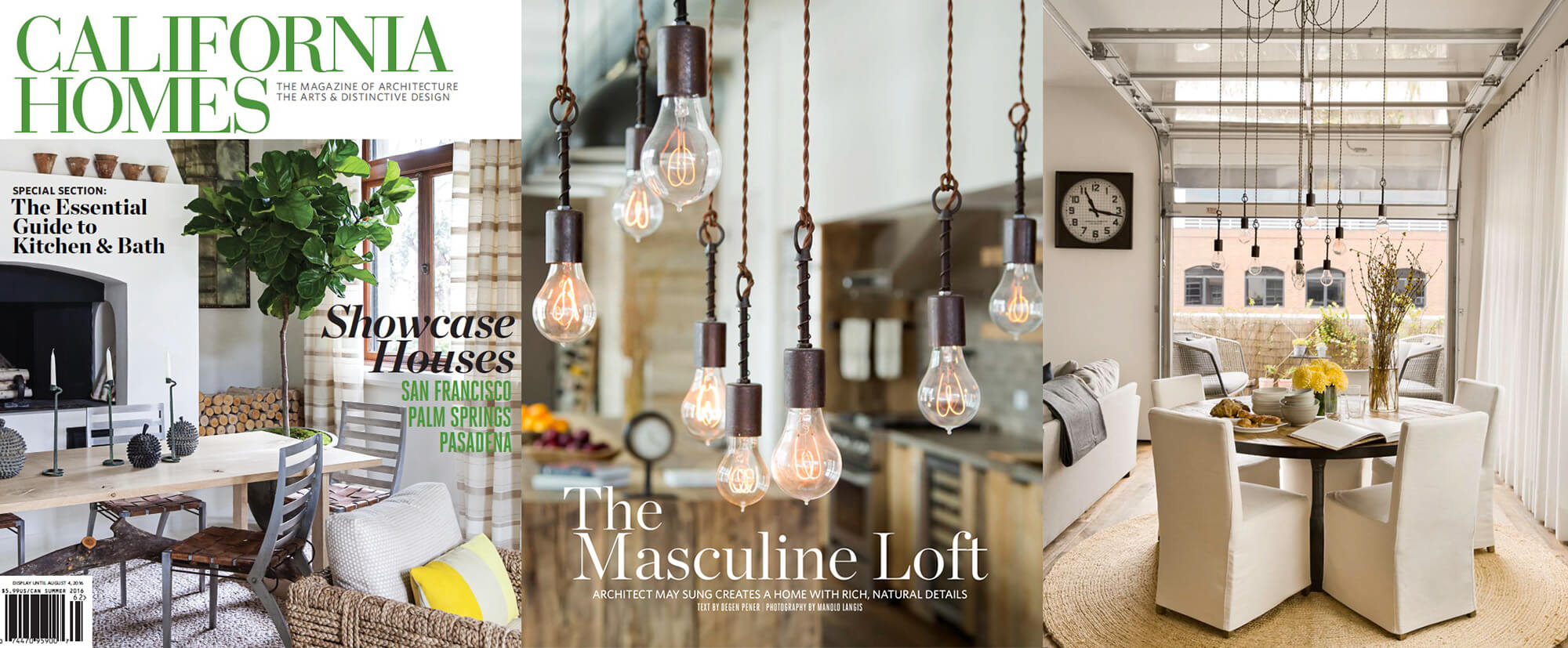 California Homes Summer 2016 - Featuring Flea Market Rx Spring Pendant Lights