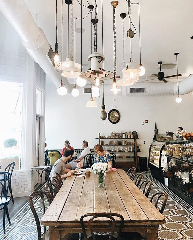Tatte Bakery Pendant Light Installation