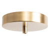 Satin Brass Ceiling Canopy Kit for Pendant Light, Strain Relief