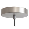 Satin Nickel Ceiling Canopy Kit for Pendant Light, Strain Relief - Detail