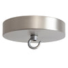 Satin Nickel Ceiling Canopy Kit, Hook for Chandelier