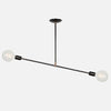 Balance Pendant Light - Angle 2 - Matte Black with Aged Brass