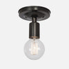 Bare Bulb Flush Mount Ceiling Light - Ebonized Brass