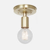 Bare Bulb Flush Mount Ceiling Light - Raw Brass