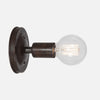 Bare Bulb Wall Sconce - Ebonized Rust