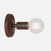 Bare Bulb Wall Sconce - Natural Rust