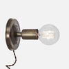 Bare Bulb Wall Sconce - Vintage Brass - Plug-In