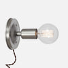 Bare Bulb Wall Sconce - Vintage Silver - Plug-In